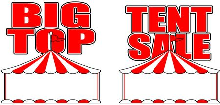 Circus tent big top sale sign poster retail advertisement