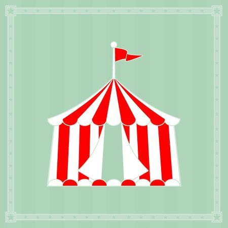 Res circus tent on striped background patern Vektoros illusztráció