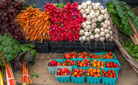 Colorfull vegetables for sale at farmers market. Stock Photo - 88544505