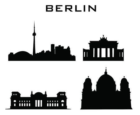 sillhouette of berlin buildings