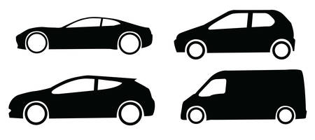 sillhouette: sillhouette of cars