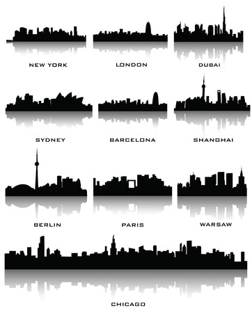sydney: sillhouette of cities Illustration