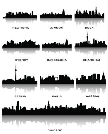 sillhouette: sillhouette of cities Illustration