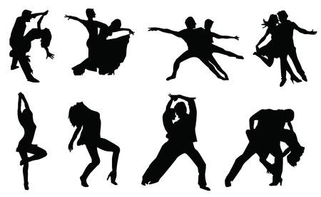 sillhouette: sillhouette of dancer