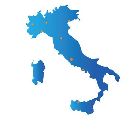 turin: map of italian cities