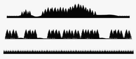 bos landschap bomen Stock Illustratie