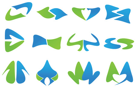logos grafische elementen website