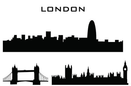 sillhouette of london buildings