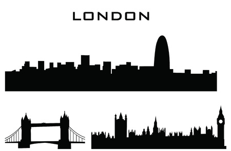 sillhouette van london gebouwen