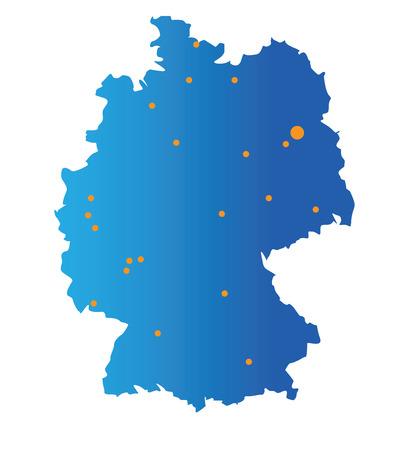 map of german cities Çizim