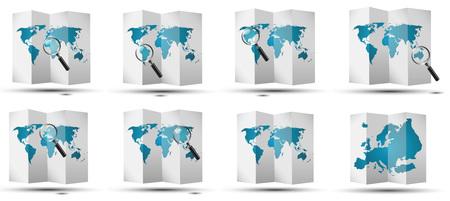 kaarten wereld continenten