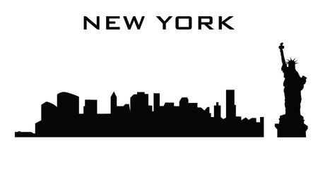 sillhouette: sillhouette of new york buildings Illustration