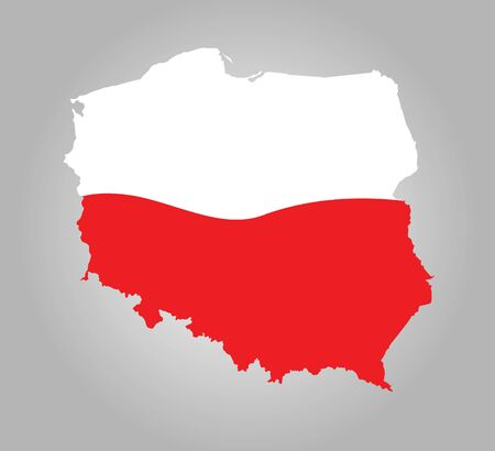 mapa: map of poland Illustration