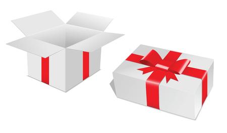 gift box rood Stock Illustratie