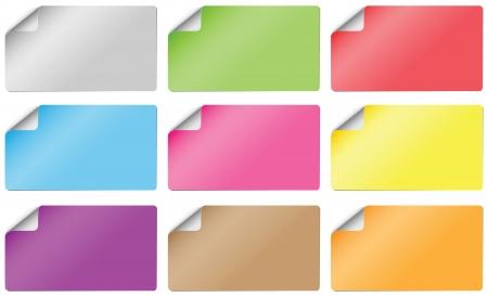 stickers kleuren Stock Illustratie