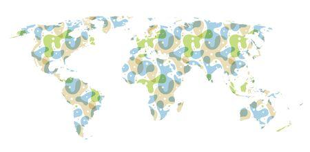 kaart van de wereld de kunst