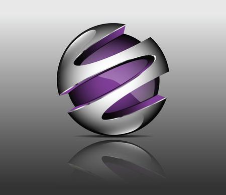 grafisch element violet