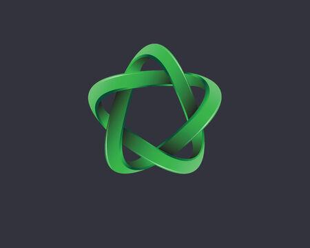 grafisch element groen Stock Illustratie