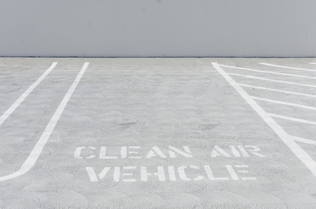 Gemarkeerd Parkeren voor Clean Air Vehicles Stockfoto