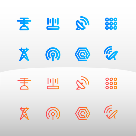 Tele-Communication icon for web and app vector illustration Vector