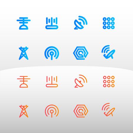am radio: Tele-Communication icon for web and app vector illustration Illustration
