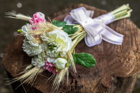 Rustic and romantic bridal bouquet. Wedding arrangement with many colors and flowers.Rustic and romantic bridal bouquet. Wedding arrangement with many colors and flowers.