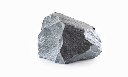 Iron ore isolated on the white background. Iron ore are rocks and minerals from which metallic iron can be extracted economically.