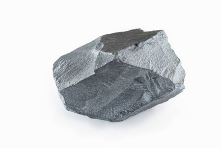 Iron ore, mined in the Chinese city of Lianyungang. Ore used in construction and heavy industry. Stock Photo
