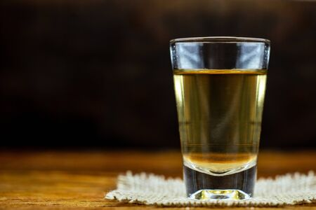 Cachaça, drips, cane or sugarcane is the name given to sugarcane brandy produced in Brazil. It is used in the preparation of the worldwide known cocktail caipirinha. traditional drink from brazil Imagens