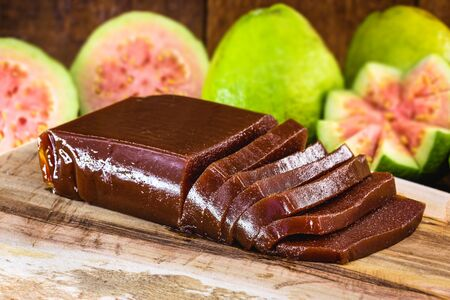 Brazilian sweet country boy. Guava is a typical Brazilian dessert, common throughout the country, consumed in June parties. Concept of homemade brazil food.