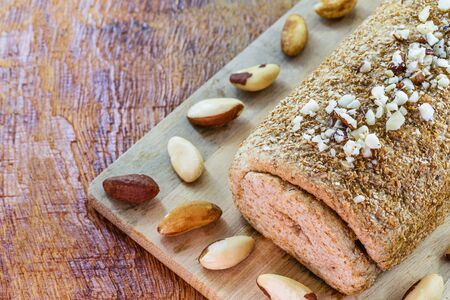 """Brazil nut bread, export product from the Amazon. Brazil nuts are called """"castanha do para"""" in Brazil and Latin America. Used in chocolates, breads and other foods of Brazilian cuisine"""