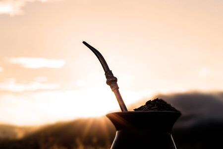 Chimarrão, or mate, is a characteristic drink of the culture of southern South America bequeathed by indigenous cultures. It consists of a gourd, a pump, ground yerba mate and warm water.