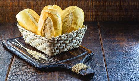 traditional Brazilian bakery bread, known in Brazil as
