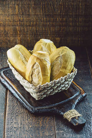 Brazilian bread basket, in celebration of the French bread day celebrated on March 21st. Banque d'images