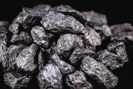 Niobium stone, mineral found in Brazil, used in metallurgy.