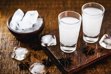Uzo, also known by the spelling ouzo, is a Greek alcoholic drink made from anise. In Brazil it is known as Fogo-Paulista.
