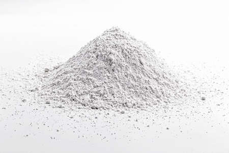 Calcium sulfide is a solid inorganic compound with the chemical formula CaS, used in the production of certain types of paints, ceramics and paper. Stock Photo