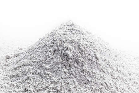 calcium, pile of granulated calcium powder, fluoride, nitrate, used in the beauty, pharmaceutical or industrial industry Stock Photo