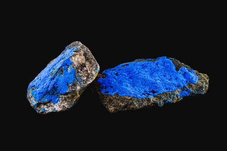 Cobalt is a chemical element present in the enameled mineral, blue pigment for industrial use