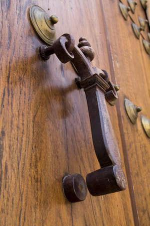 old doorbell on church door