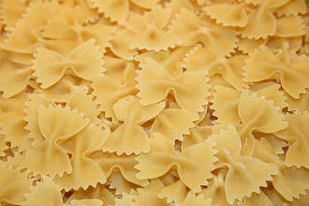 Close up of farfalle pasta Stock Photo
