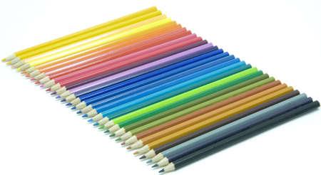 Pencil in a row