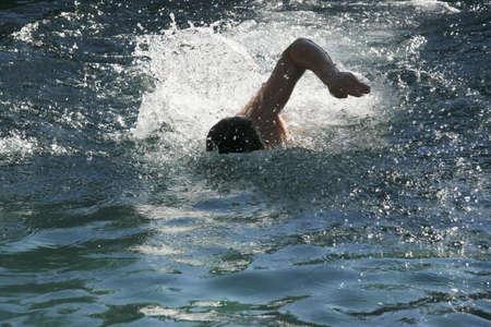 Boy swimming Stock Photo - 3015380