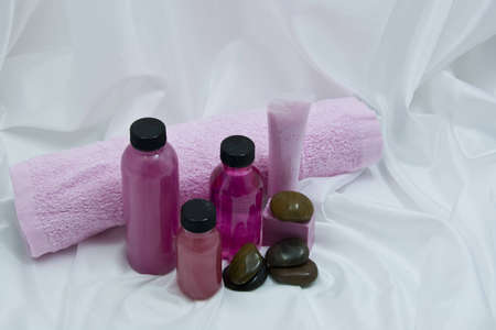 Spa items with  stones Stock Photo