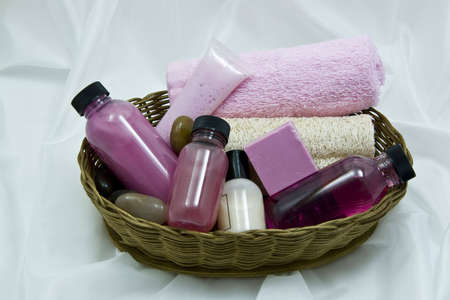 Spa items in basket