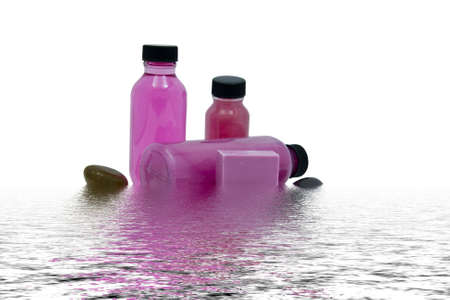 Spa items with water ripples Stock Photo