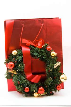 Gift bag and christmas decoration