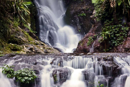 Waterfall in the rainforest Stock Photo