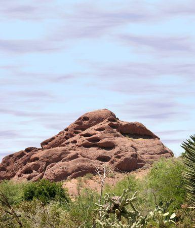 Papago Mountain shot from Papago Park near Phoenix, Arizona.
