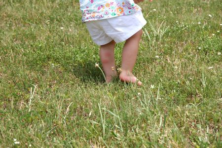 Bug bites on back of baby girls leg.